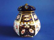 Rare Royal Crown Derby 'Imari Witches' Pattern 6299 Potpourri Vase c1911